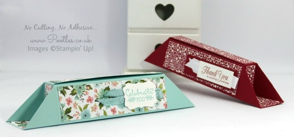 Stampin' Up! Demonstrator Pootles - No Cut, No Stick, Long Slim Box Tutorial