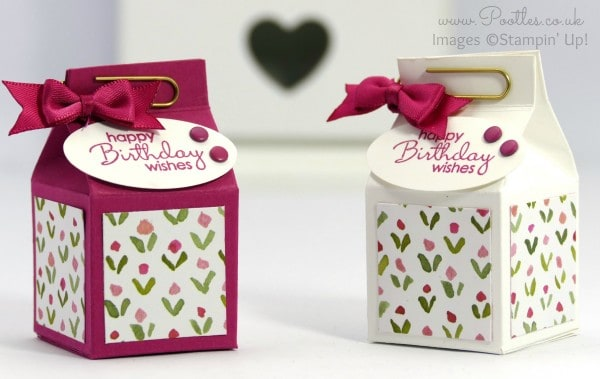 Stampin' Up! Demonstrator Pootles - Rose Red Mini Milk Carton Tutorial