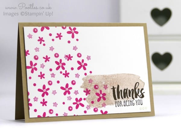 Stampin' Up! Demonstrator Pootles - Suite Sayings. Because I like to say Thanks