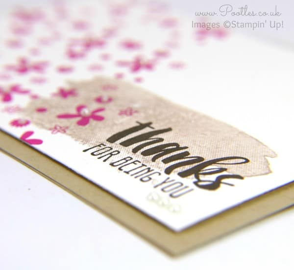 Stampin' Up! Demonstrator Pootles - Suite Sayings. Because I like to say Thanks Close Up