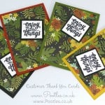 Thank You Cards with Botanical Gardens