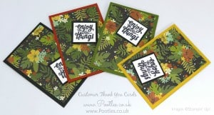 Stampin' Up! Demonstrator Pootles - Thank You Cards with Botanical Gardens 2