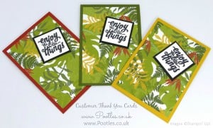 Stampin' Up! Demonstrator Pootles - Thank You Cards with Botanical Gardens 3