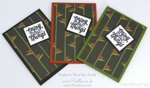 Stampin' Up! Demonstrator Pootles - Thank You Cards with Botanical Gardens 5