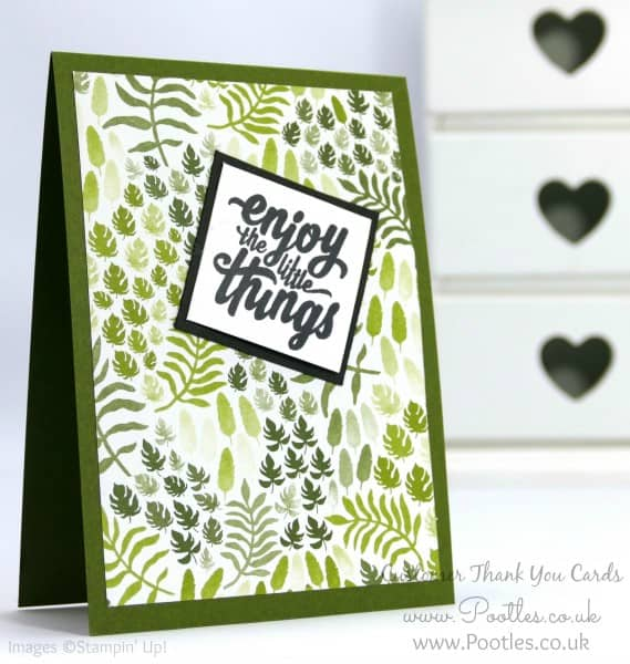Stampin' Up! Demonstrator Pootles - Thank You Cards with Botanical Gardens