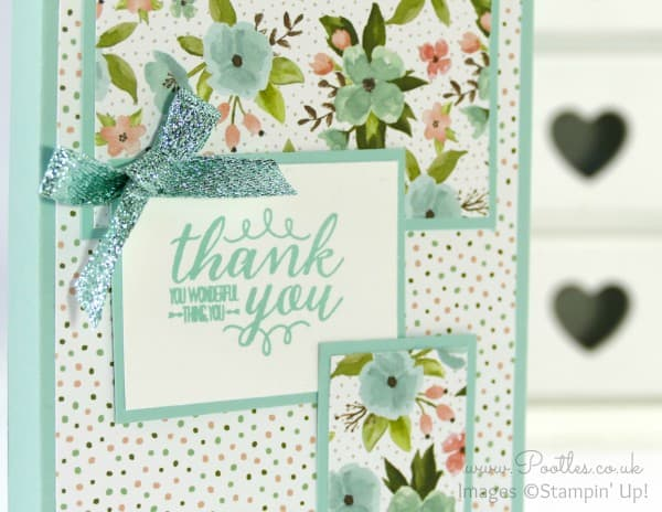Stampin' Up! Demonstrator Pootles - Way Back Wednesday - Shopping Bag Card Holder Close UP