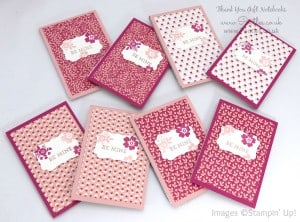 Stampin' Up! Demonstrator Pootles - Way Back Wednesday - Thank You Notebooks! 3
