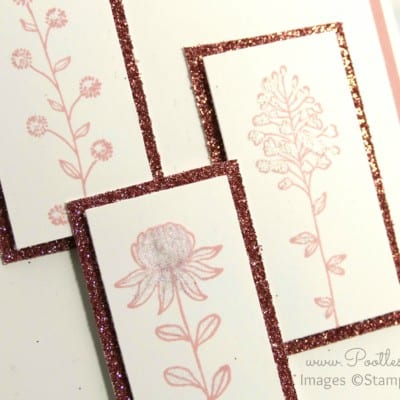 Pootles' Springwatch Field Flowers Card Cut and How To