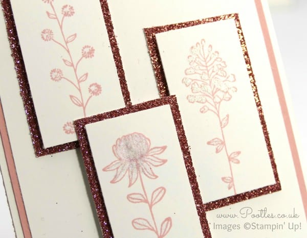 Pootles' Springwatch Field Flowers Card Cut and How To Wink of Stella Detail