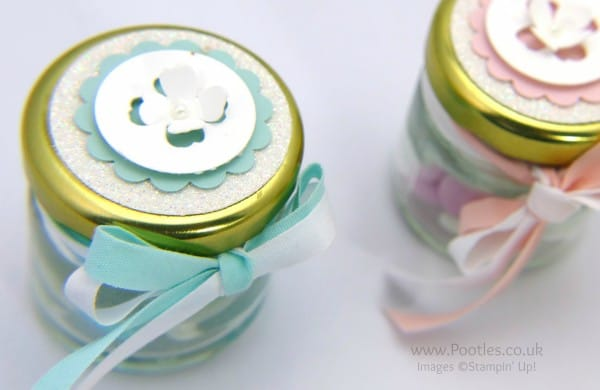 Stampin' Up! Demonstrator Pootles - Adorable Shower Favour Jars Tutorial Top