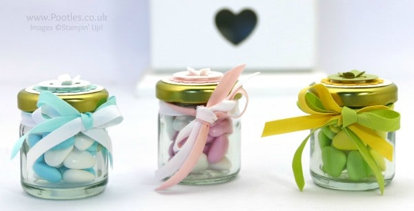 Stampin' Up! Demonstrator Pootles - Adorable ShowerFavour Jars Tutorial
