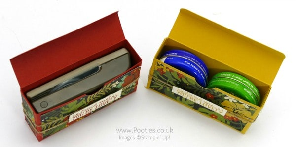 Stampin' Up! Demonstrator Pootles - Botanical Gardens Pretty Box Tutorial - Fits Loads...!! Open