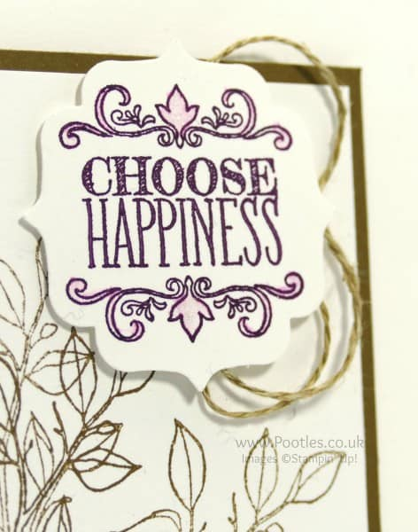 Stampin' Up! Demonstrator Pootles - Choose Happiness. Simply Happiness Close Up