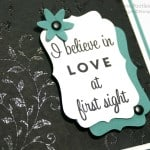 Pretty Embossed First Sight Card. Black on Black