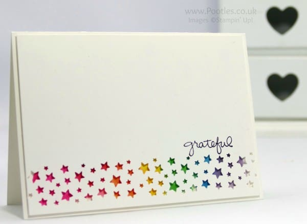 Stampin' Up! Demonstrator Pootles - Rainbow Punched Card