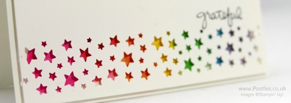 Stampin' Up! Demonstrator Pootles - Rainbow Punched Card Close Up