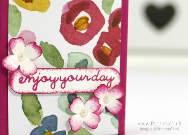 Stampin' Up! Demonstrator Pootles - Way Back Wednesday Fold Over DSP Box Tutorial Stamping