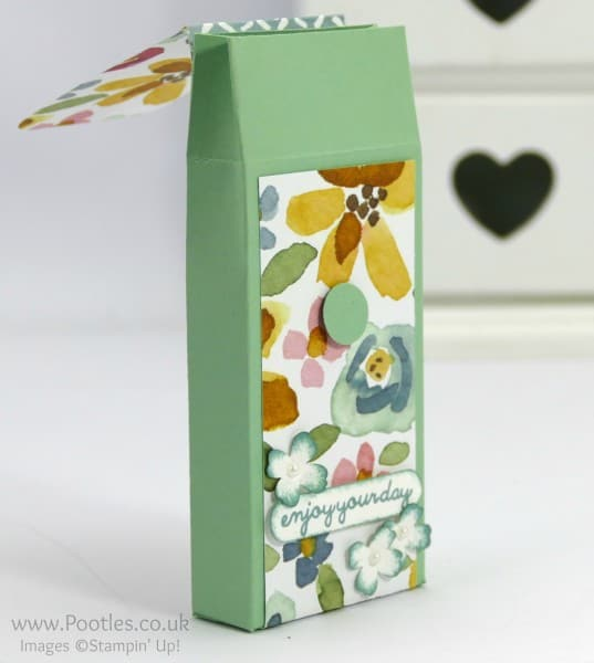 Stampin' Up! Demonstrator Pootles - Way Back Wednesday Fold Over DSP Box Tutorial open
