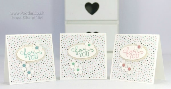 Stampin' Up! Demonstrator Pootles - Darling Little Birthday Bouquet 3x3 Cards