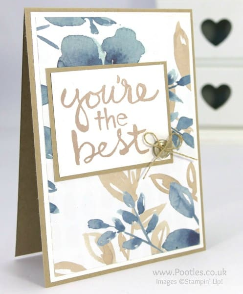 Stampin' Up! Demonstrator Pootles - English Garden Watercolour Words