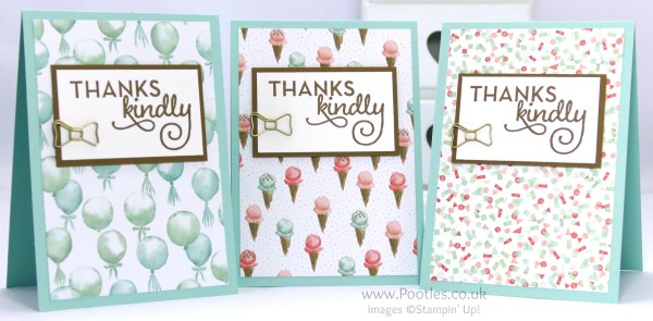Stampin' Up! Demonstrator Pootles - February Thank You Cards with Birthday Bouquet  1
