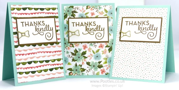 Stampin' Up! Demonstrator Pootles - February Thank You Cards with Birthday Bouquet 2