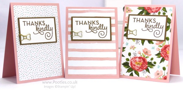 Stampin' Up! Demonstrator Pootles - February Thank You Cards with Birthday Bouquet 3