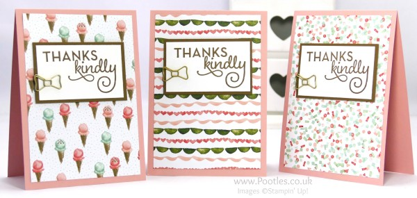 Stampin' Up! Demonstrator Pootles - February Thank You Cards with Birthday Bouquet 4