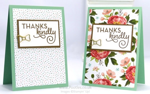 Stampin' Up! Demonstrator Pootles - February Thank You Cards with Birthday Bouquet 5