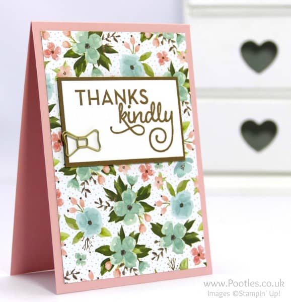 Stampin' Up! Demonstrator Pootles - February Thank You Cards with Birthday Bouquet