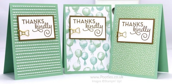 Stampin' Up! Demonstrator Pootles - February Thank You Cards with Birthday Bouquet 6