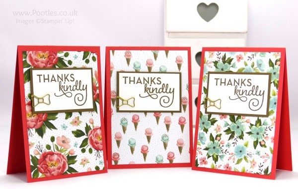 Stampin' Up! Demonstrator Pootles - February Thank You Cards with Birthday Bouquet 8