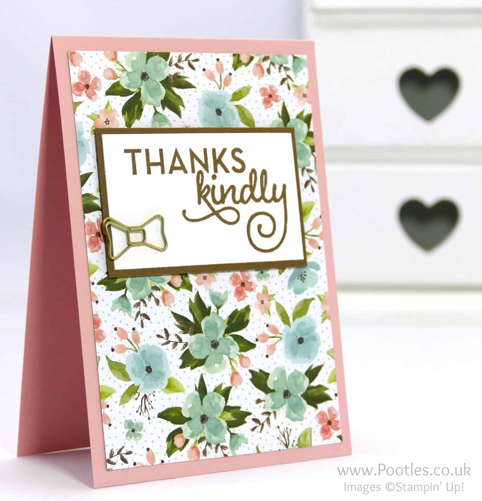 February Thank You Cards with Birthday Bouquet