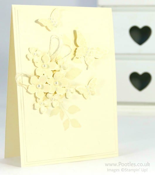 Stampin' Up! Demonstrator Pootles - Heat Embossed Vanilla Card - Tone on Tone