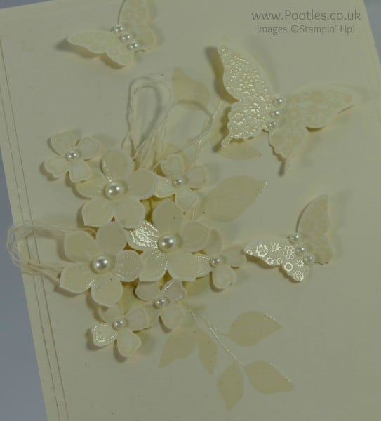 Stampin' Up! Demonstrator Pootles - Heat Embossed Vanilla Card - Tone on Tone Light Adjusted