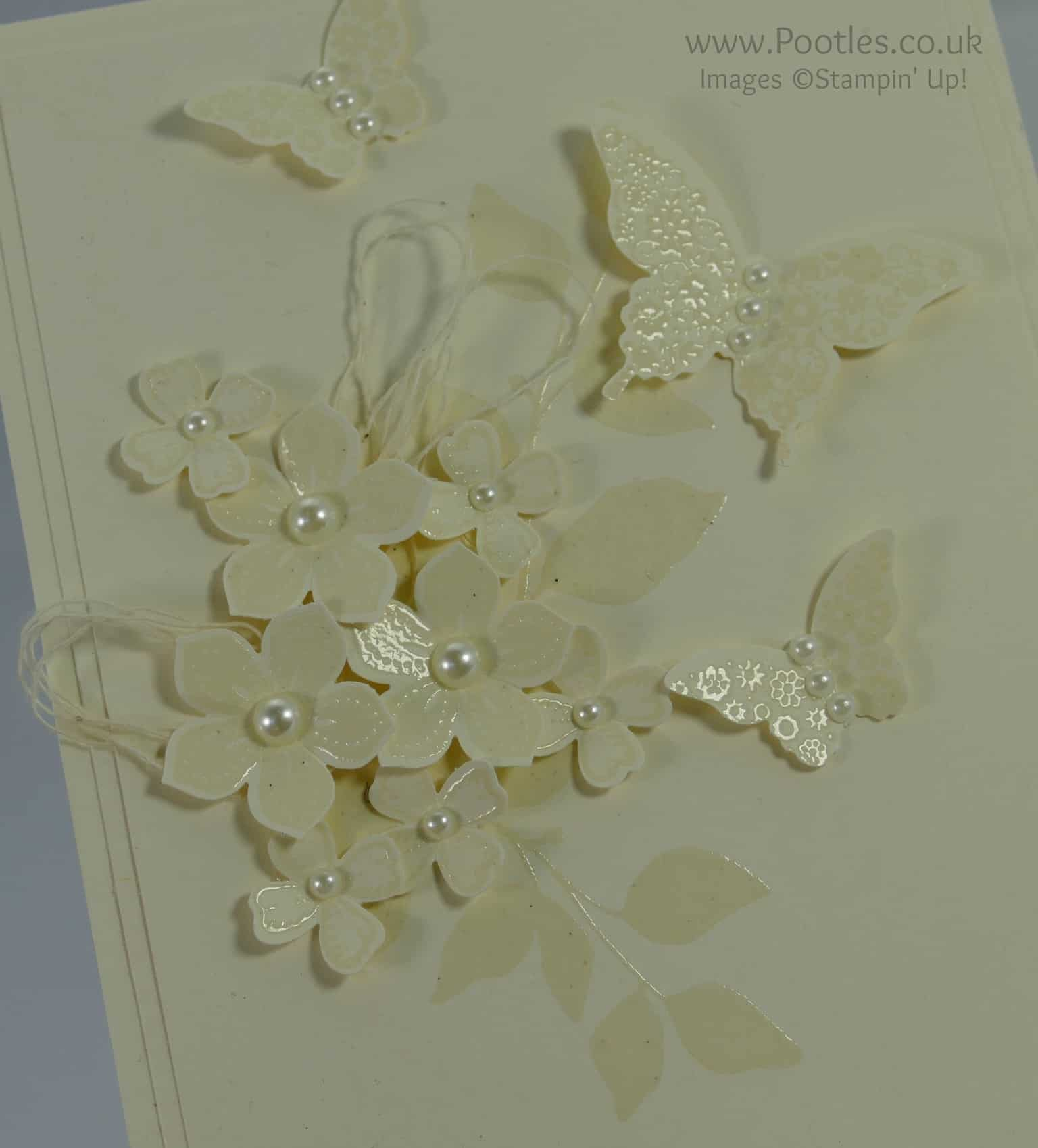 Heat Embossed Vanilla Card – Tone on Tone