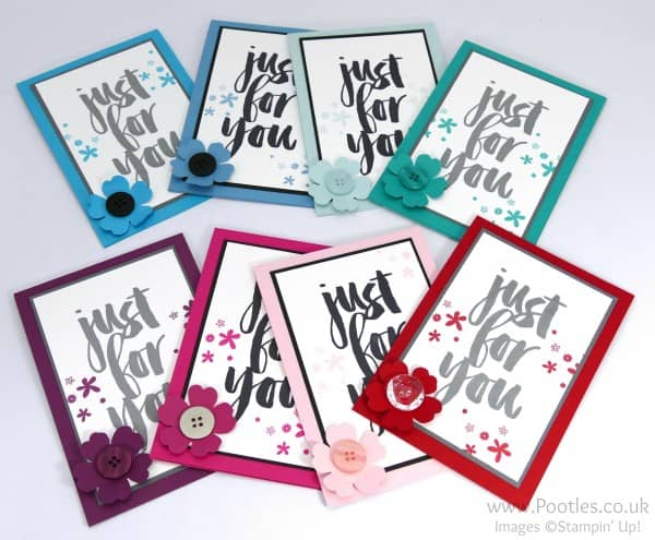 Stampin' Up! Demonstrator Pootles - March Customer Thank You Cards