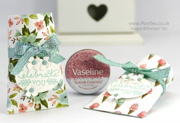 Stampin' Up! Demonstrator Pootles - Pretty Vaseline Lip Treat Pouch Tutorial