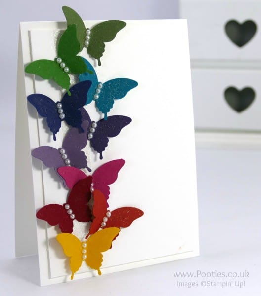 Stampin' Up! Demonstrator Pootles - Rainbow Elegant Butterflies and a little Wink of Stella