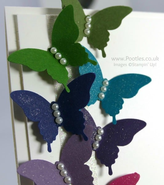 Stampin' Up! Demonstrator Pootles - Rainbow Elegant Butterflies and a little Wink of Stella Glitter Detail