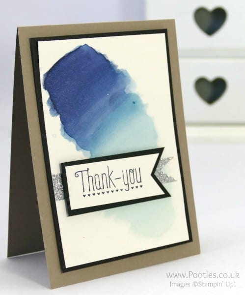 Stampin' Up! Demonstrator Pootles - Watercolour Card 'Live' with no pre prepared sample!