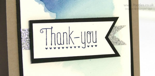 Stampin' Up! Demonstrator Pootles - Watercolour Card 'Live' with no pre prepared sample! close up