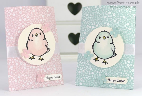Stampin' Up! Demonstrator Pootles - Watercolour Chick Treat Bags Tutorial