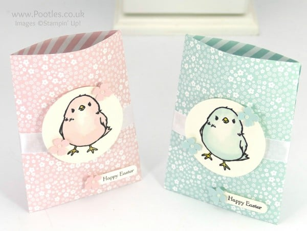 Stampin' Up! Demonstrator Pootles - Watercolour Chick Treat Bags Tutorial Open