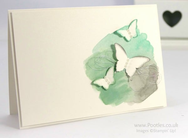 Stampin' Up! Demonstrator Pootles - Watercoloured Butterflies. Easy Peasy!!!