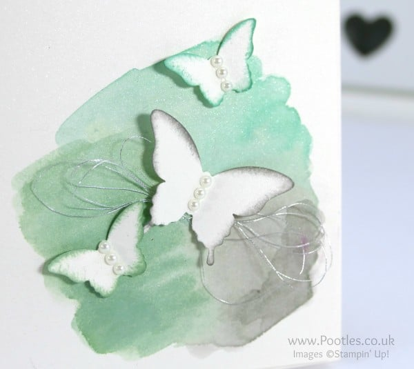 Stampin' Up! Demonstrator Pootles - Watercoloured Butterflies. Easy Peasy!!! close up