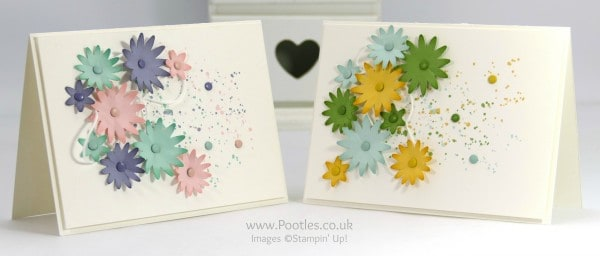 Stampin' Up! Demonstrator Pootles - Way Back Wednesday Blossom Bunch Punch Gorgeous Grunge Card Tutorial