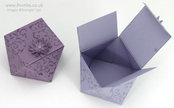 Stampin' Up! Demonstrator Pootles - Way Back Wednesday Faceted Box Tutorial Open