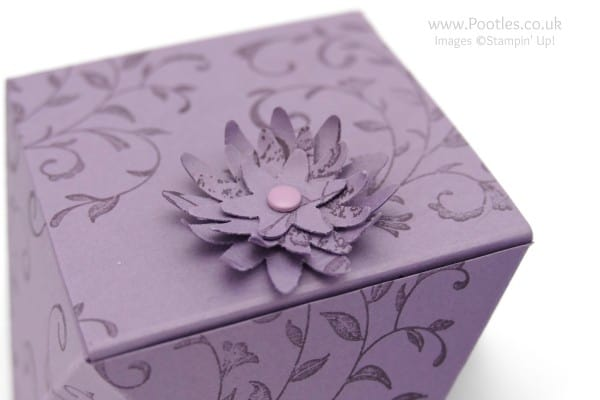 Stampin' Up! Demonstrator Pootles - Way Back Wednesday Faceted Box Tutorial Top