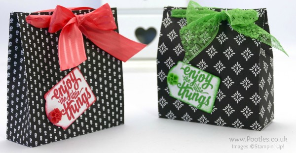 Stampin' Up! Demonstrator Pootles - Way Back Wednesday Monochrome Big Bag Tutorial